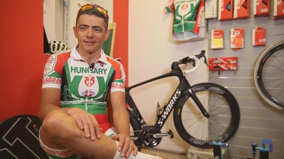 Butu Arnold Csaba magyar bajnok pálya parakerékpáros